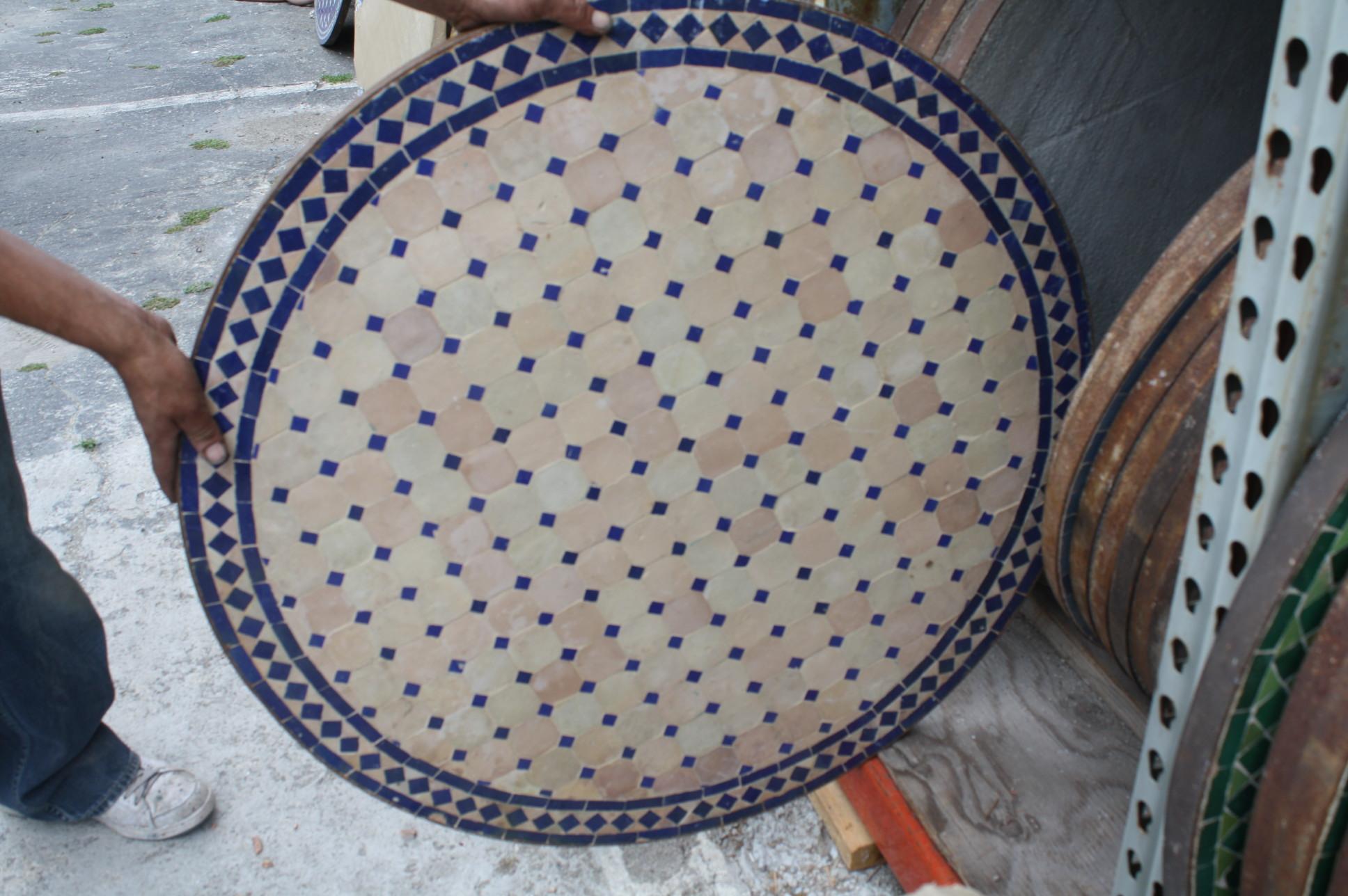 Decorative Mosaic Tile Round Table