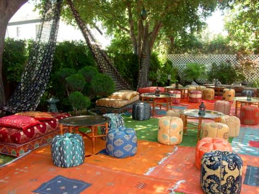 Moroccan theme party supplies moroccan furniture los angeles for Decoration theme jardin