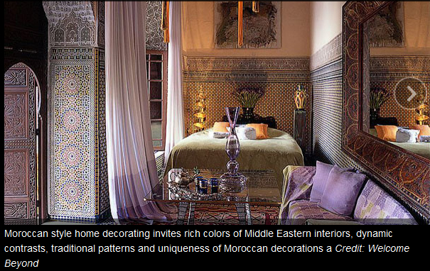 From the light fixtures to the tilework moroccan design