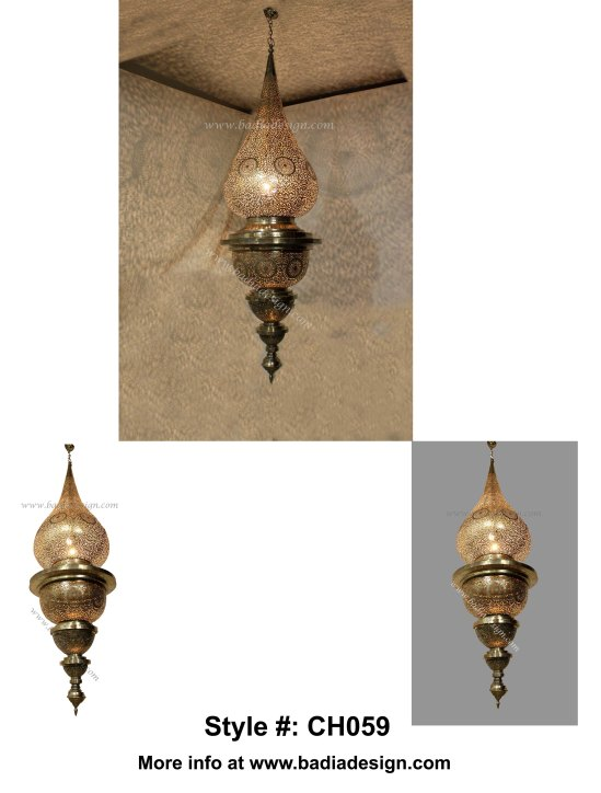 Moroccan Brass Chandelier