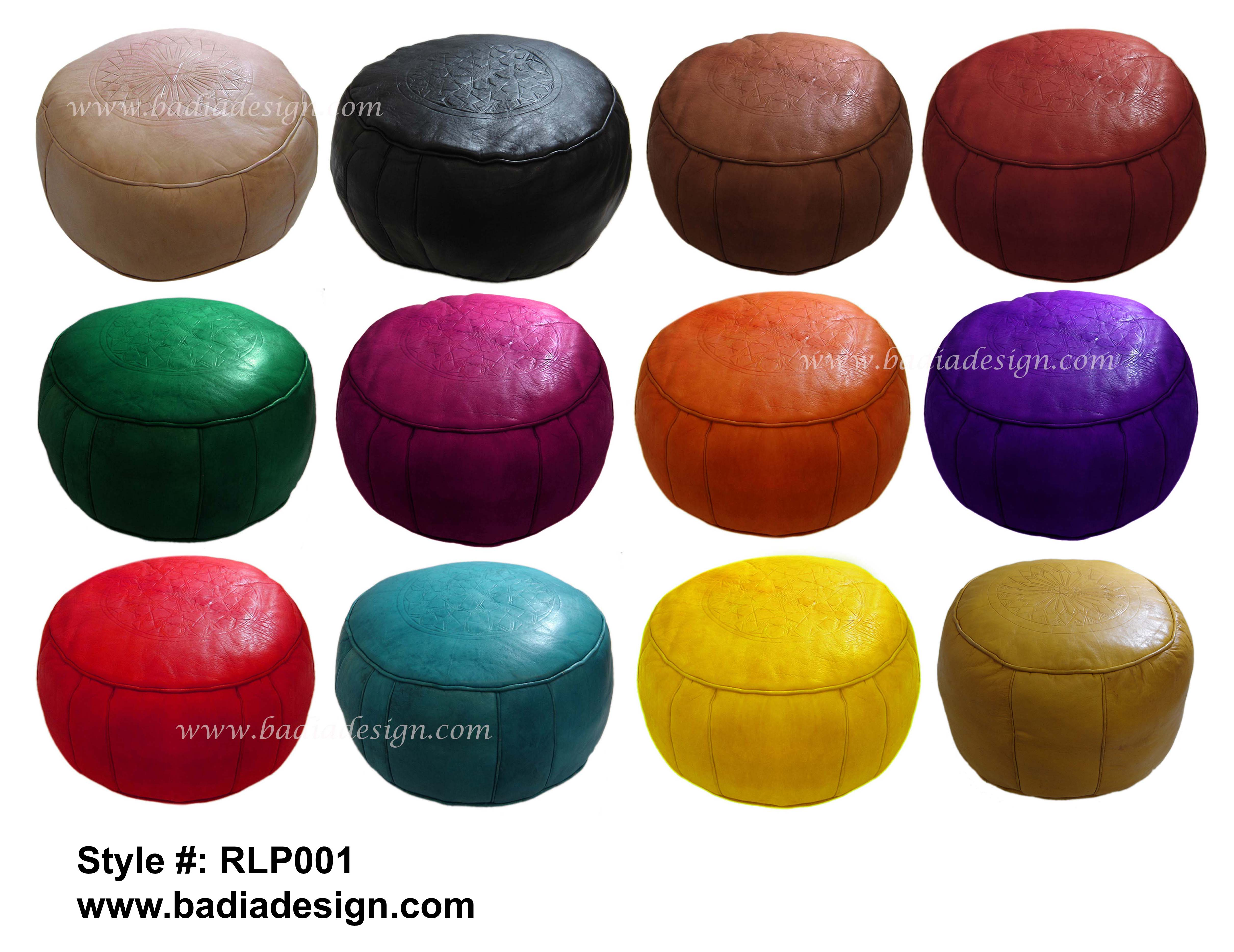 rpisite free stuffed leather ottoman pouf moroccan poof com handmade genuine