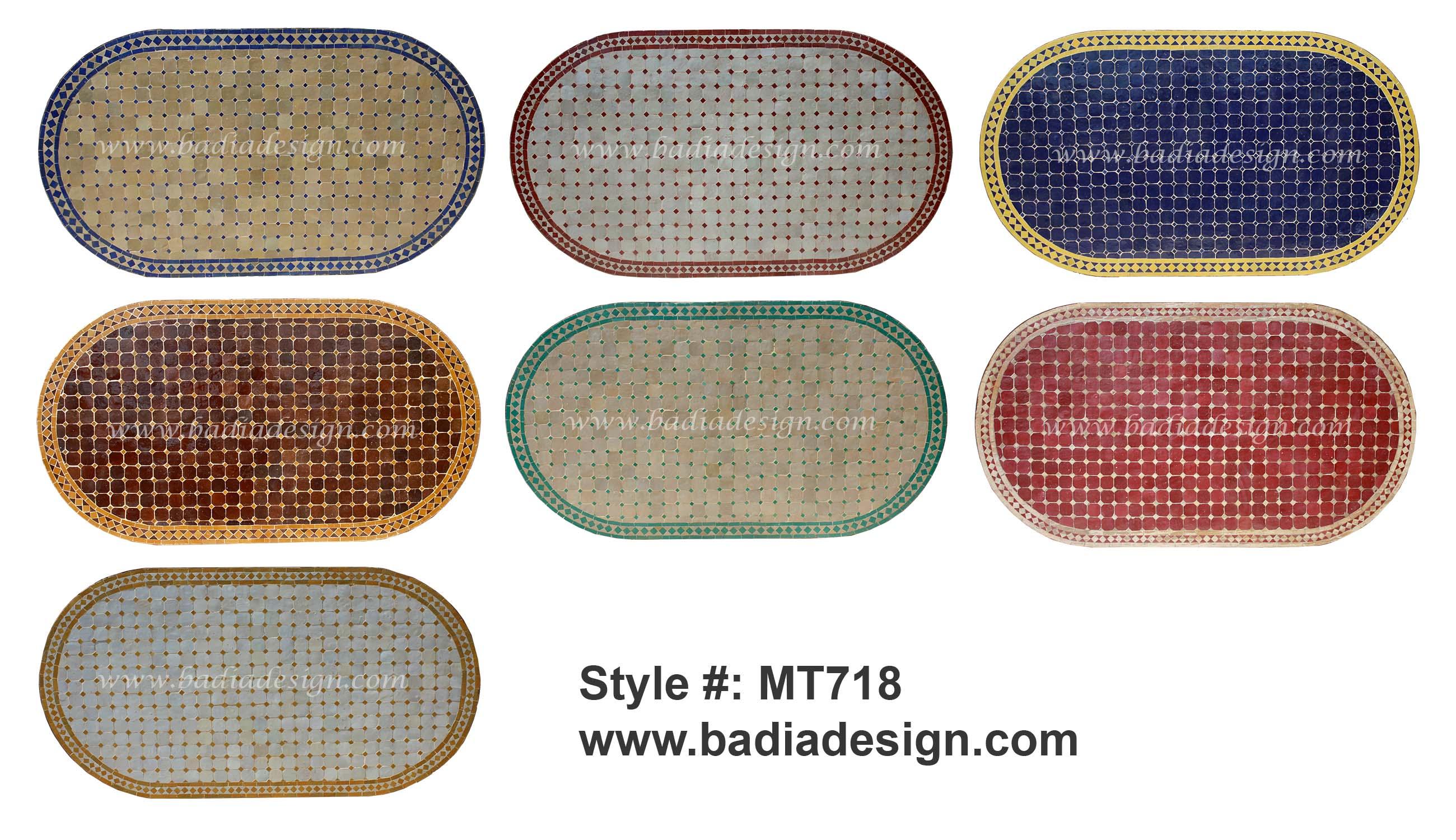 Mediterranean living room los angeles by badia design inc - Moroccan Oval Tile Table