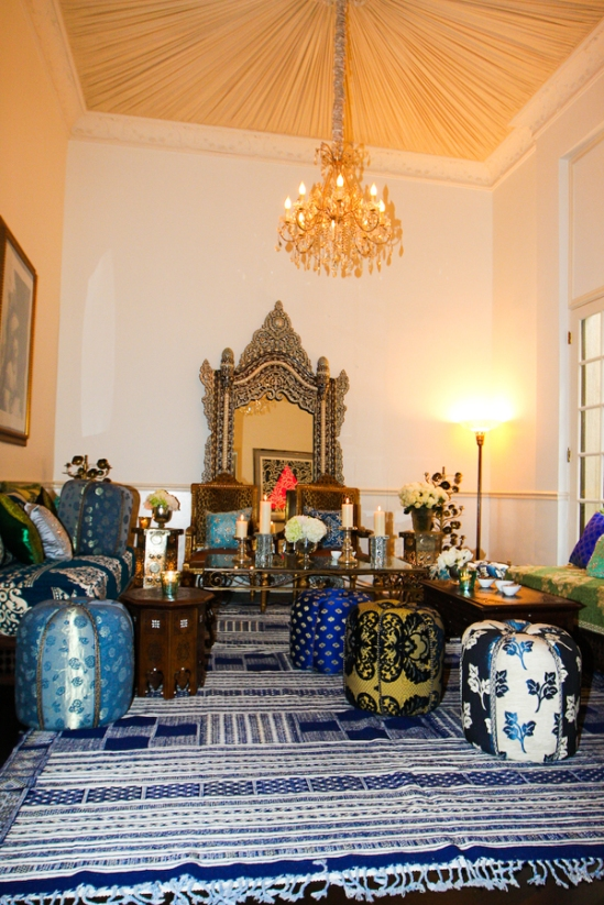 Moroccan Inspired Living Room Decor from Badia Design Inc.