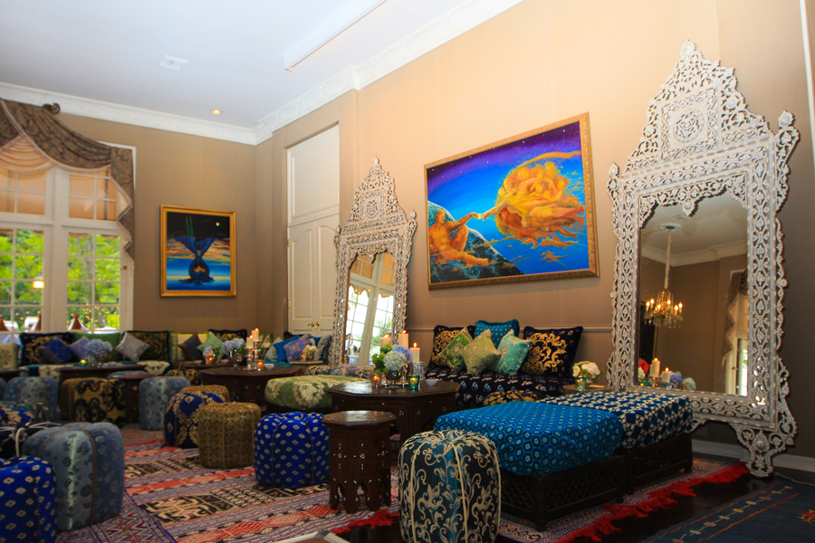 moroccan inspired living room decor from badia design inc - Living Room Furniture Los Angeles