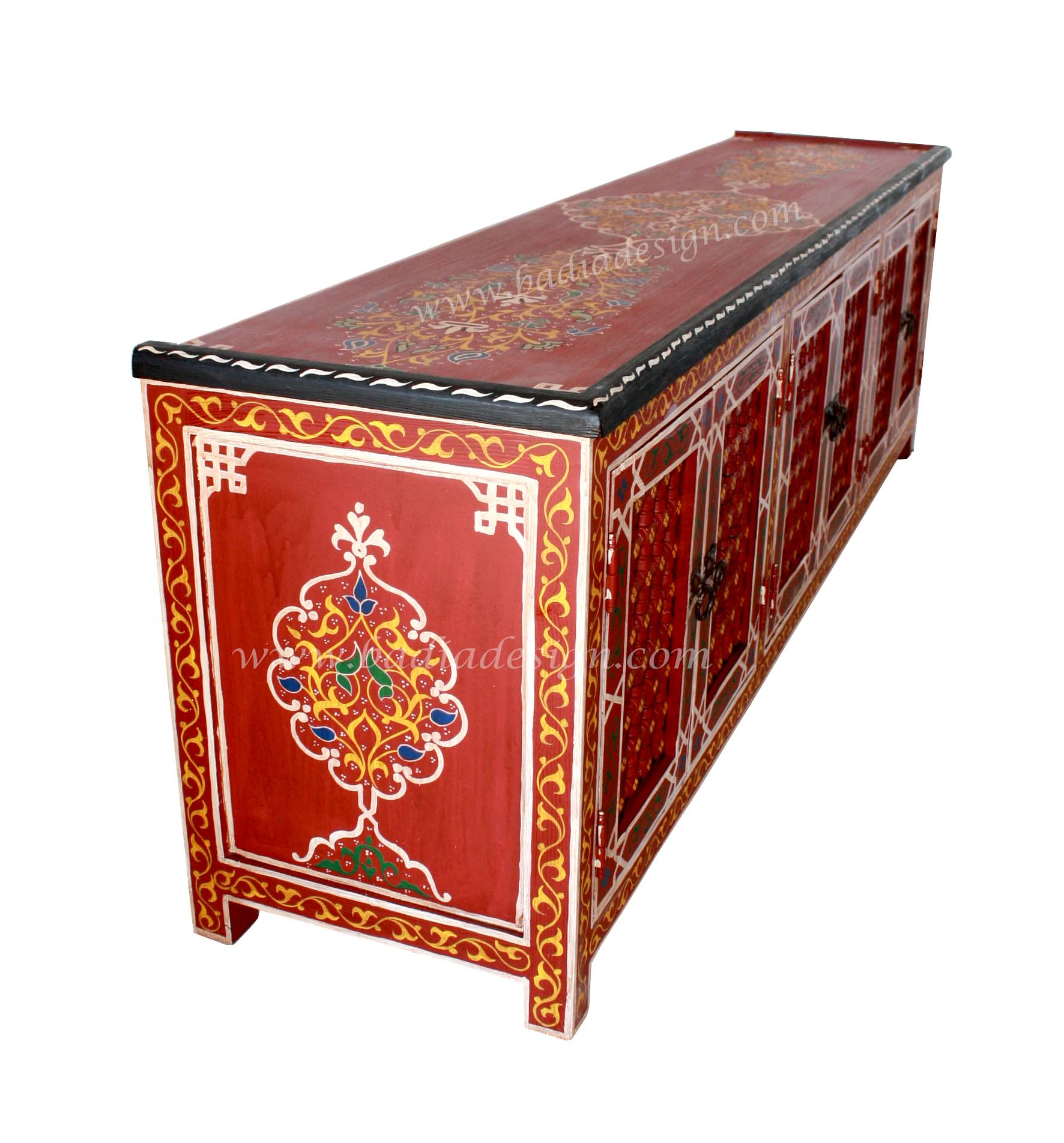 Moroccan home furniture moroccan furniture los angeles for Moroccan hand painted furniture