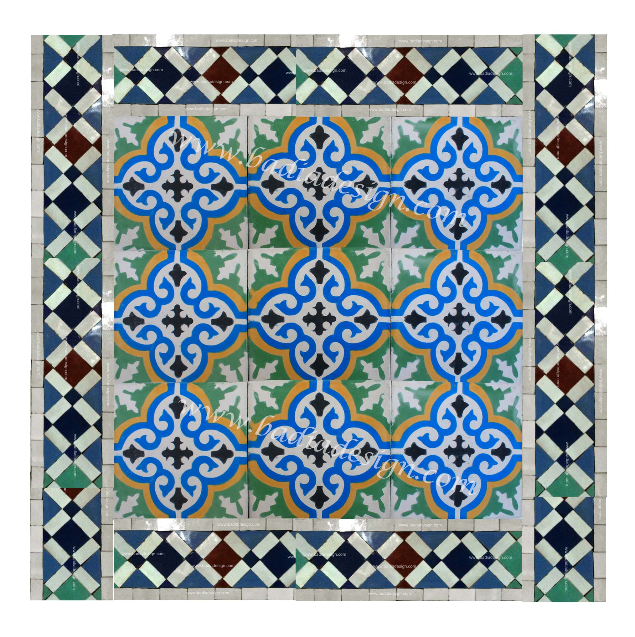 Exterior Wall Mural Moroccan Mosaic Tiles Moroccan Furniture Los Angeles