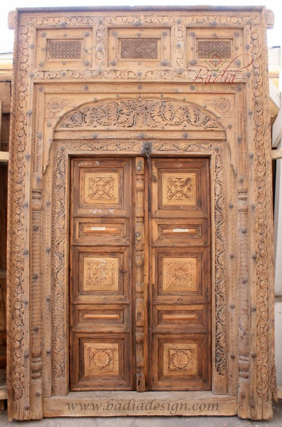 Moroccan furniture los angeles badia design inc has the for Vintage solid wood doors