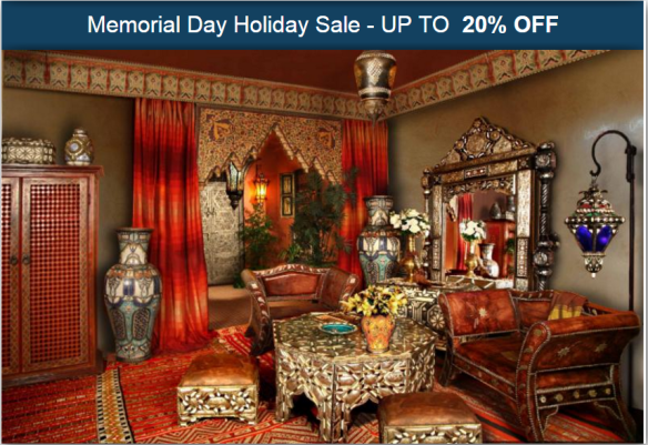 Up To 20 Off Memorial Day Sale 2017 On Moroccan Home Decor